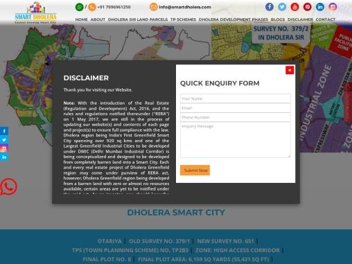 NA Industrial Land At Otariya In Dholera SIR Project