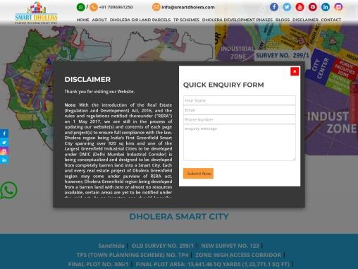 Commercial Land Parcel For Sale At Dholera Smart City (Linear Development)