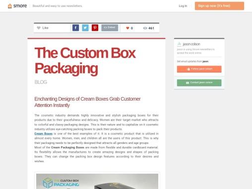 Custom Printed Cream Boxes Packaging