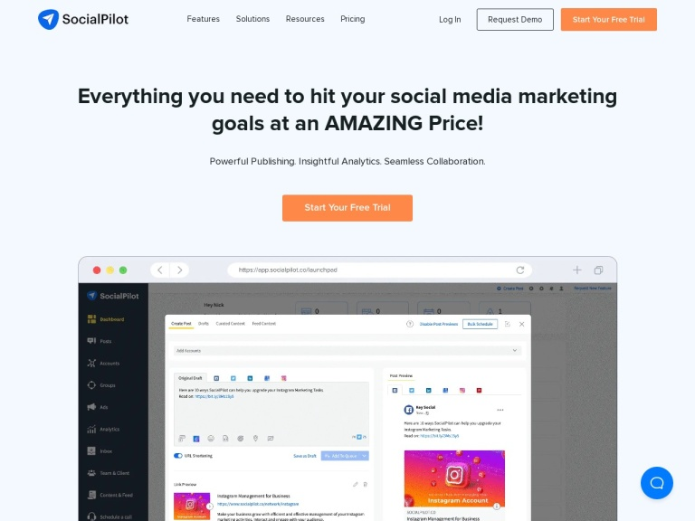 SocialPilot Discount | Get Coupon on the SMM Tool in 2019 screenshot