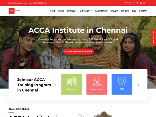 Seo (School of excellence) provides best Acca course for Candidates in Chennai.