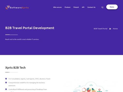 B2B Travel Portal – B2B Travel Portal Development | SoftwareXprts