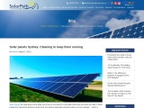 Solar panels Sydney: Cleaning to keep them running