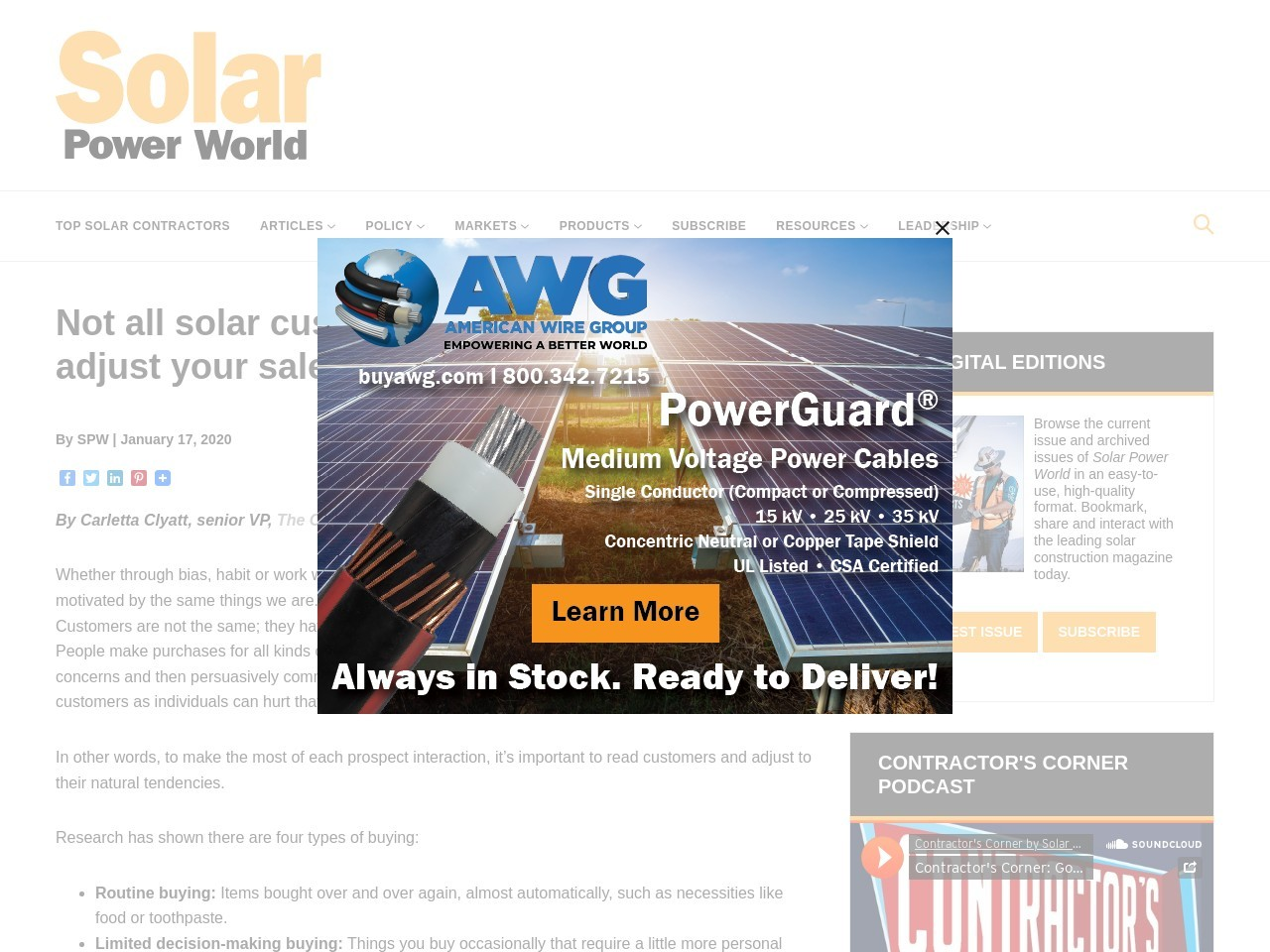 Not all solar customers are the same, so adjust your sales approach to their needs