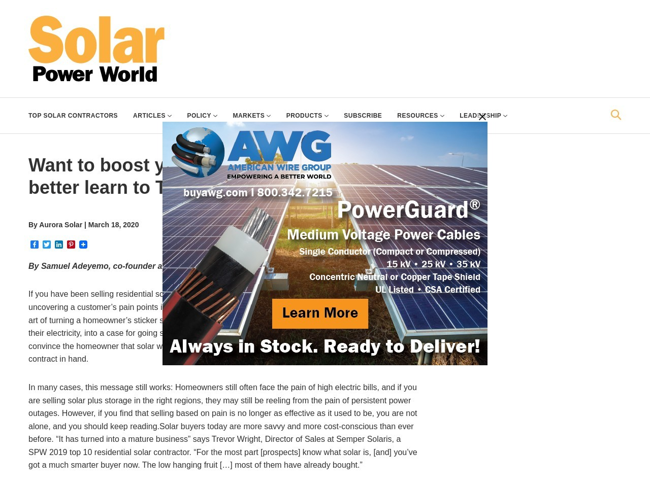 Want to boost your solar sales in 2020? You better learn to TALC