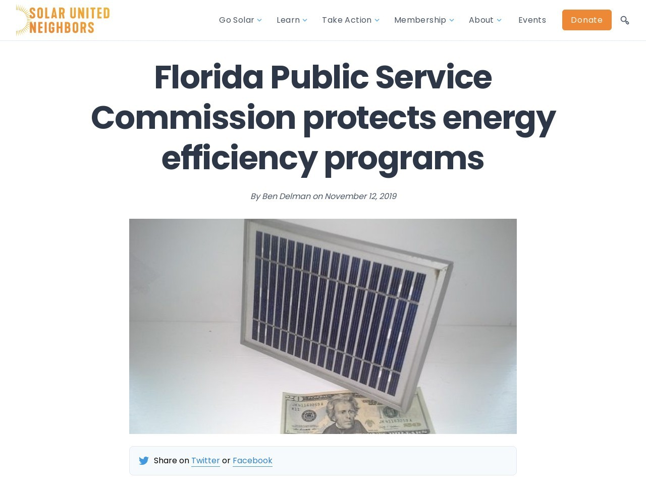 Florida Public Service Commission protects energy efficiency programs