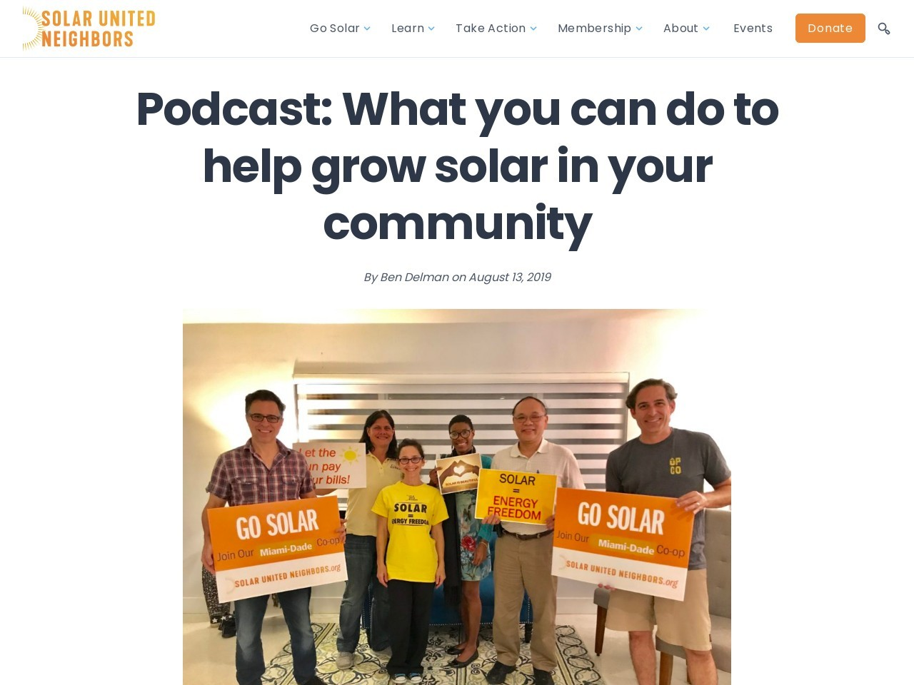 Podcast: What you can do to help grow solar in your community