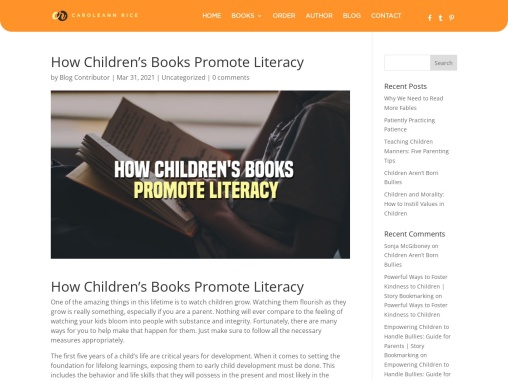 How Children's Books Promote Literacy