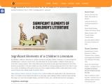 Significant Elements of a Children's Literature