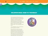 Solomon Snail Goes To The Beach by Caroleann Rice
