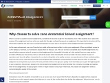 Why choose to solve zone Annamalai Solved assignment?