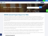 NMIMS Solved Project Report for MBA