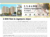 2 BHK Flats in Jagatpura Jaipur, 2 BHK Flats in Jaipur Jagatpura