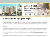 3 BHK Flats in Jagatpura Jaipur, 3 BHK Flat in Jaipur Jagatpura