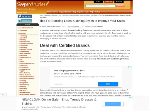 Wholesale Clothing – Best Tips For Latest Clothing Style For Your Store!