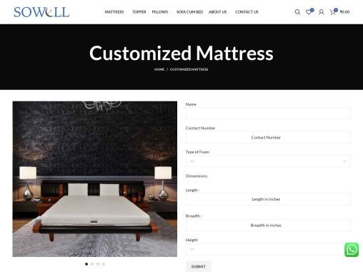 Customized Mattress – SoWell – Best Mattress Brand in India