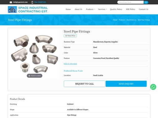 Steel Pipe and Valve Fittings Exporter