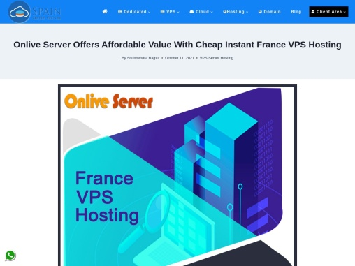 Buy France VPS Hosting with high speed by Onlive Server