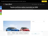 Toyota confirms carbon neutrality by 2050