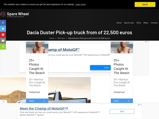 The new Dacia Duster Pick-up truck
