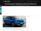The new Peugeot e-2008 electric SUV