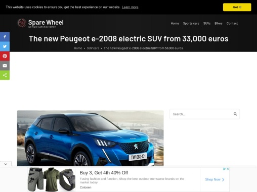 The new Peugeot e-2008 electric SUV from 33,000 euros