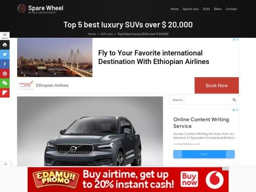Top 5 best luxury SUVs over $ 20,000