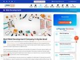 Website Design Company/Best Website Developers in Hyderabad