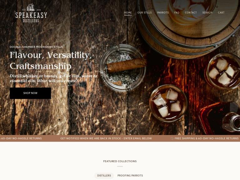 Speakeasy Distillers screenshot