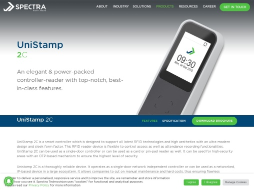 Proximity and Smart Card RFID Reader Device | Spectra