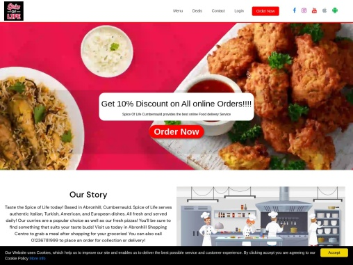 Spice of Life Cumbernauld | Kebabs Delivery, Order Food Online