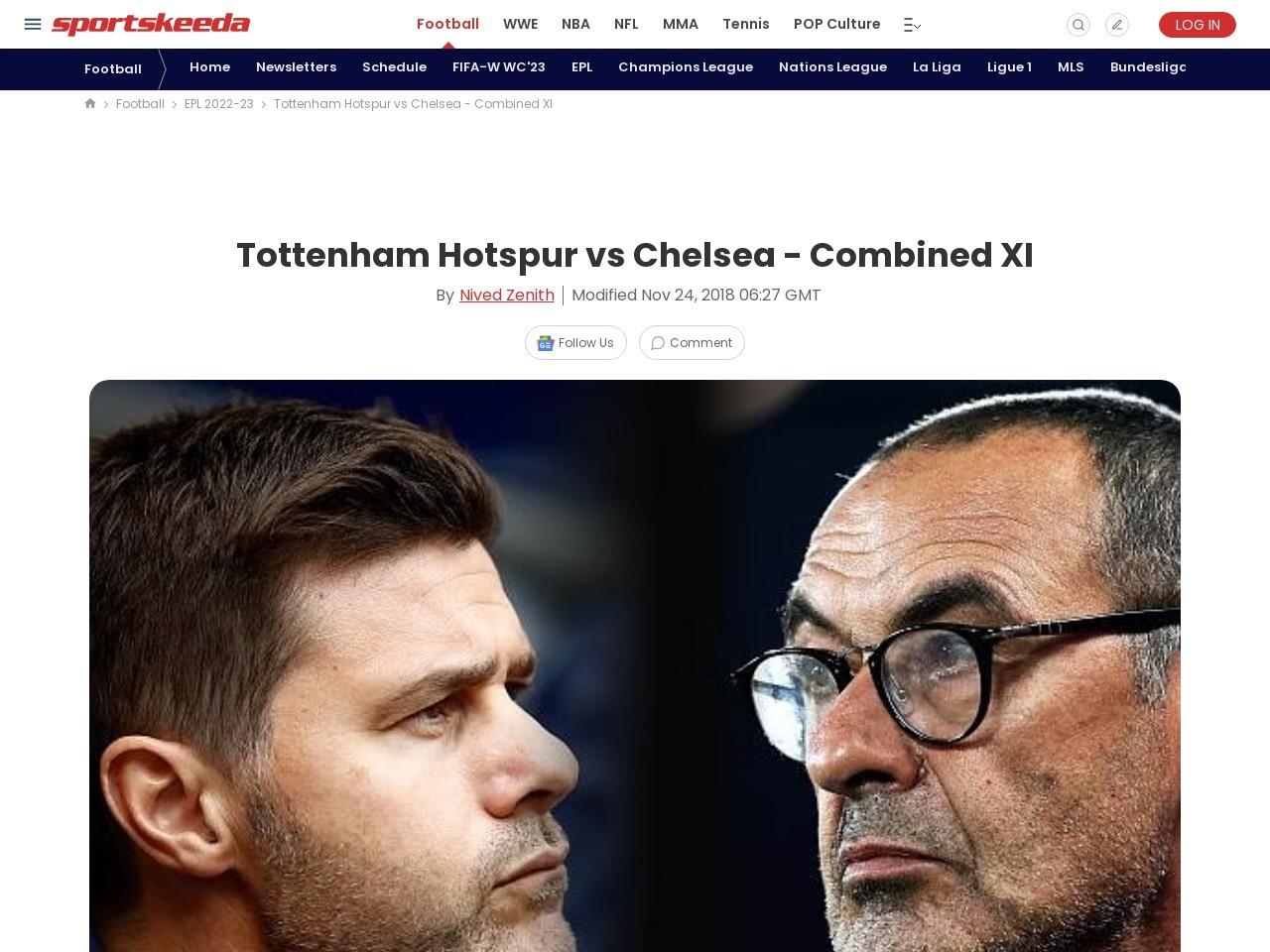 Tottenham Hotspur vs Chelsea – Combined XI