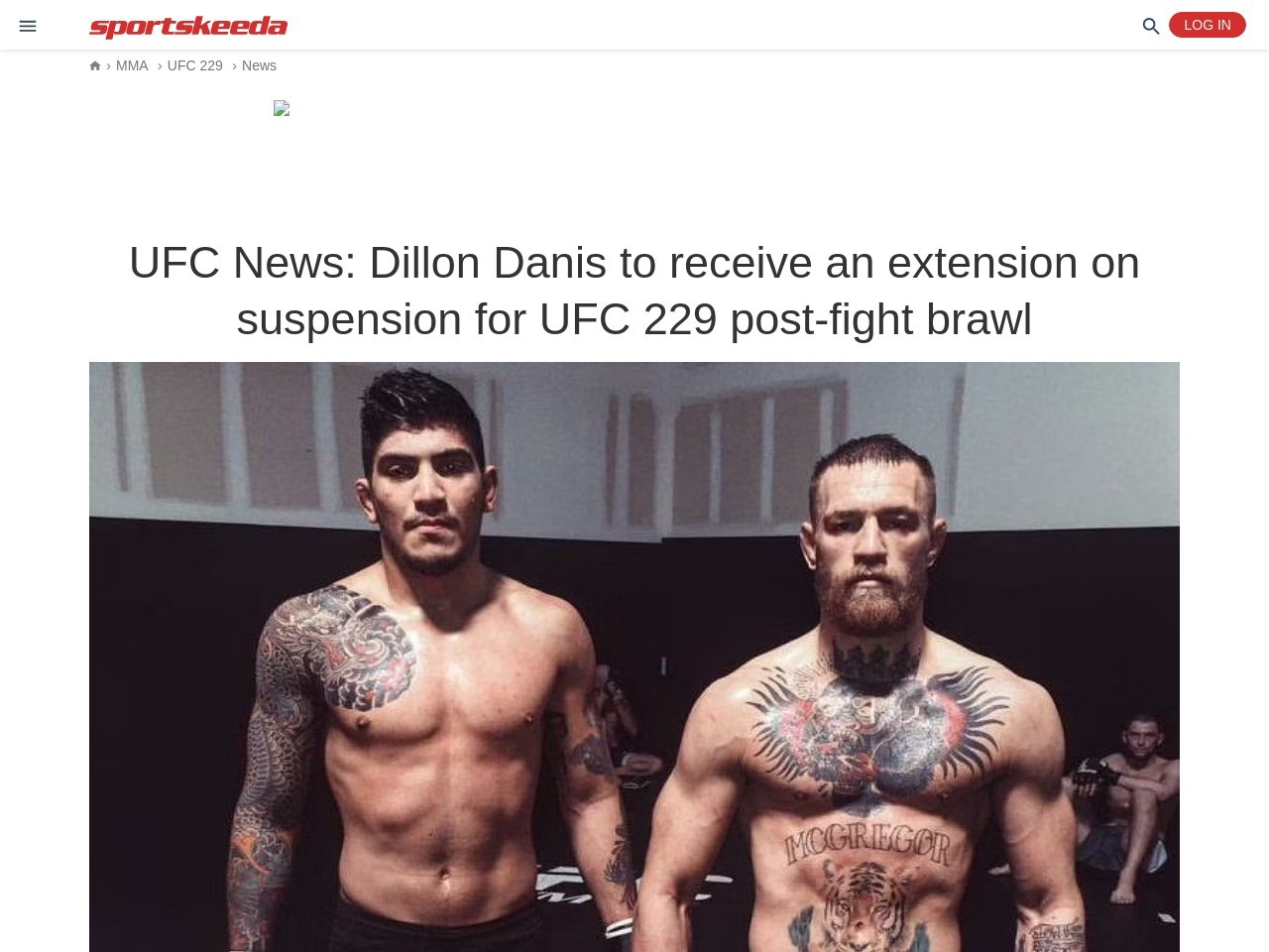 UFC Information: Dillon Danis to receive an extension on suspension for UFC…