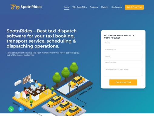 SpotnRides – New Profitable Taxi Dispatch Software