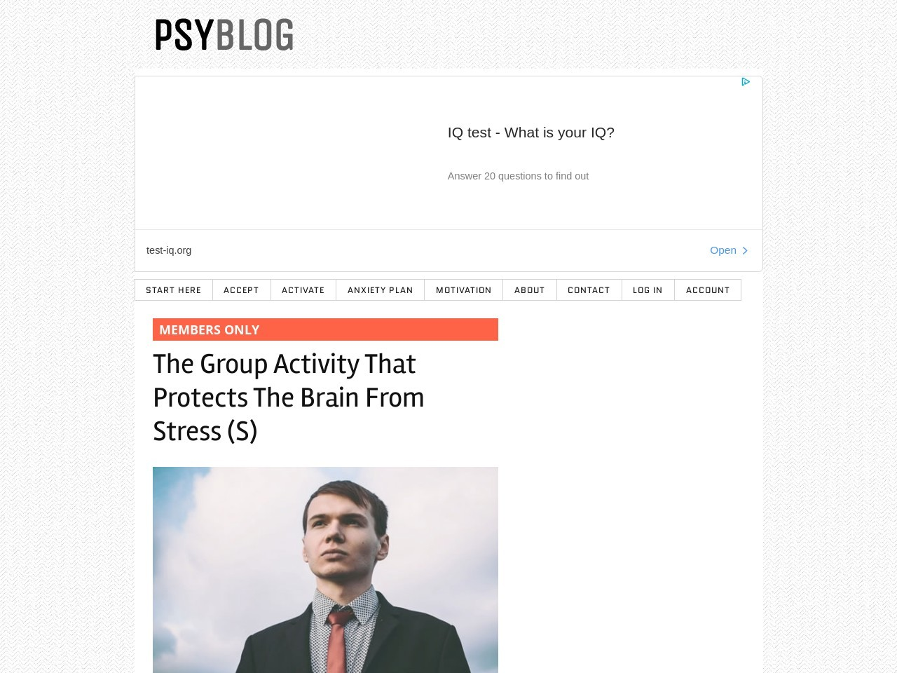 The Group Activity That Protects The Brain From Stress