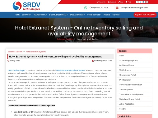 Secrets About Hotel Extranet System – Online Inventory Selling And Availability Management.