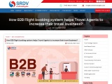 How B2B Flight booking system helps Travel Agents to increase their travel business?