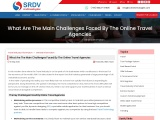 What Are The Main Challenges Faced By The Online Travel Agencies?