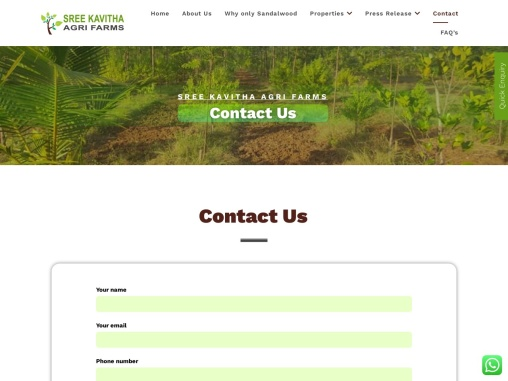 Agri Sandalwood Farms Cultivation Services in Visakhapatnam