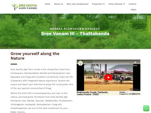 Sandalwood Agri Farms & Lands for Sale in Tattabanda, Chodavaram