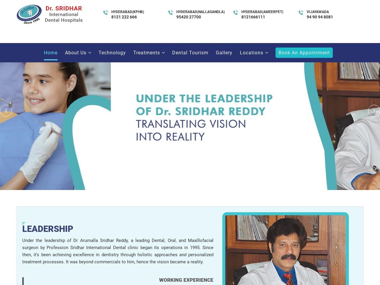 Dental Clinic in Ameerpet   Dentists in Ameerpet –  Dr.Sridhar International