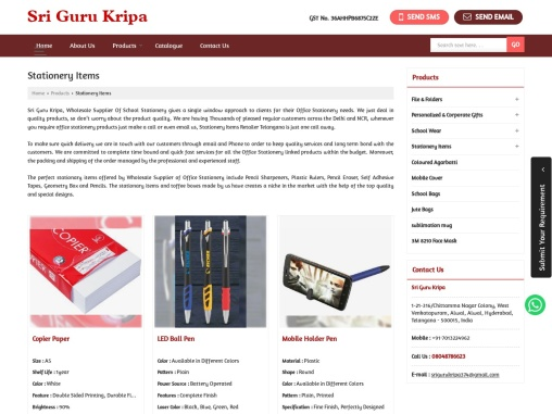 Wholesale Supplier Of School Stationery