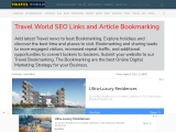 Travel World Article Submit SEO Bookmarking Place