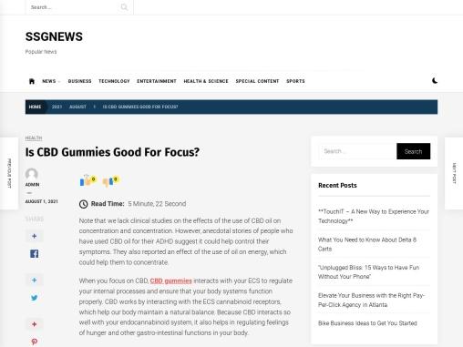Are CBD Gummies Good for Focus