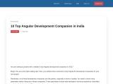 10 Top Angular Development Companies in India