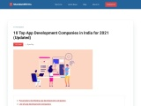 10 Top App Development Companies in India for 2021