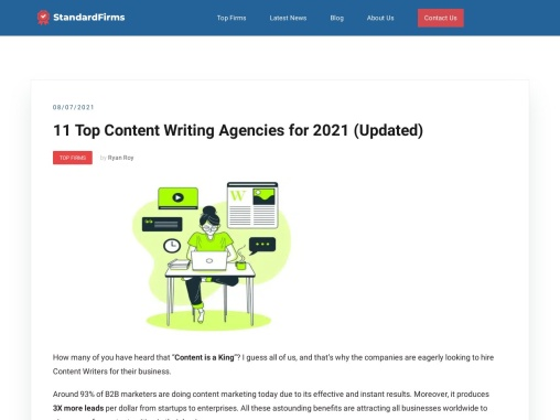 11 Top Content Writing Agencies for 2021