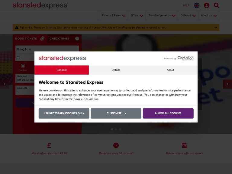 Stansted Express screenshot