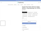 Purple Floral Heart Abstract Happy Mother's Day Backdrops for Picture