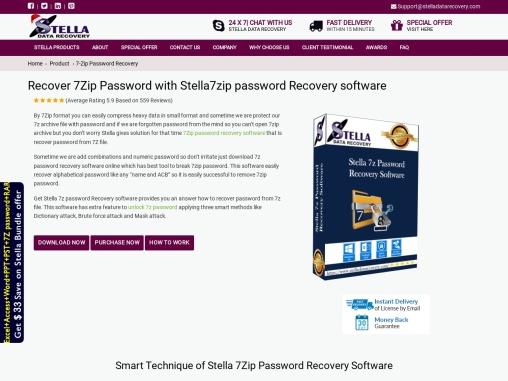 stella 7z password recovery tool